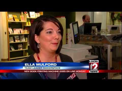 Cincinnati Public Library debuts new book-printing machine