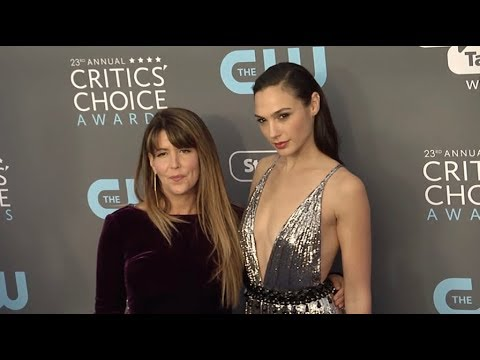Gal Gadot and Patty Jenkins at The 23rd Annual Critics Choice Awards