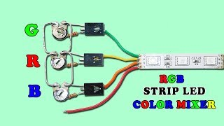 Powerful RGB LED Strip Color Mixer Circuit