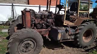 Гусеничный трактор Дт-75 на колесах / Обзор трактора в процессе сборки