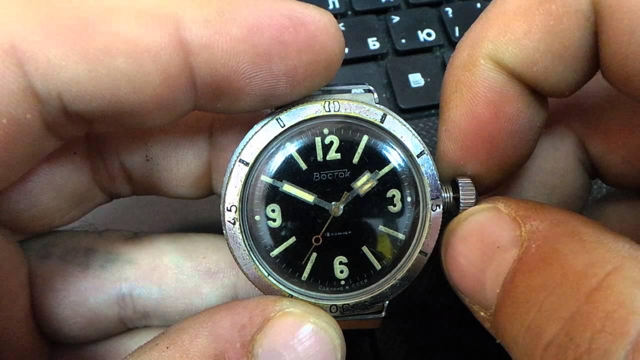 Российские 24-часовые механические часы Подводная Лодка АНТЕЙ 47мм .