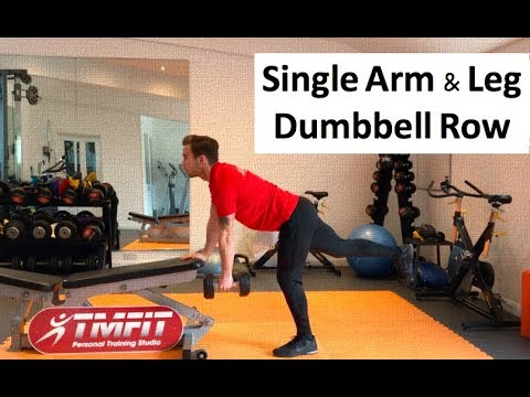 Single Arm & Leg Dumbbell Row