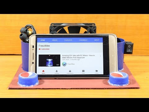 How To Make Electric Smartphone Cooler Stand - Easy Smartphone Cooler