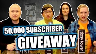 50,000 Subscriber Giveaway playing Tipsy Tower  |  HellthyJunkFood