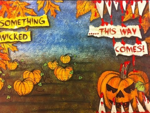Halloween Art Journal Pages