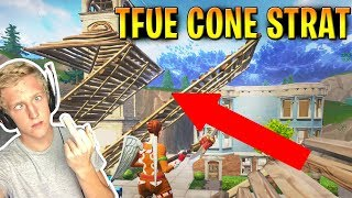 Tfue double ramp cone strat - Fortnite Battle Royale (Advanced Building Tips)