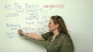 Vocabulary – going to the beach
