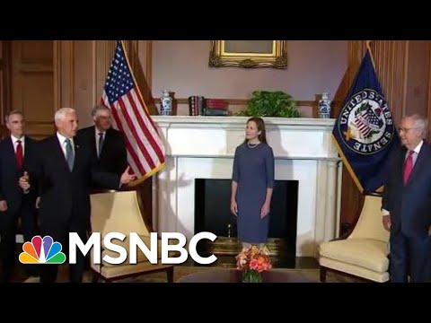 Amy Coney Barrett Kicks Off Capitol Hill Visit With McConnell Meeting | Hallie Jackson | MSNBC