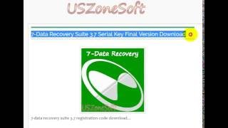 7-Data Recovery Suite 3.7 free download