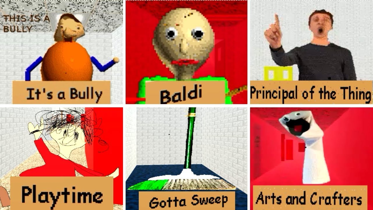 Baldi S Basics In Education And Learning All Characters