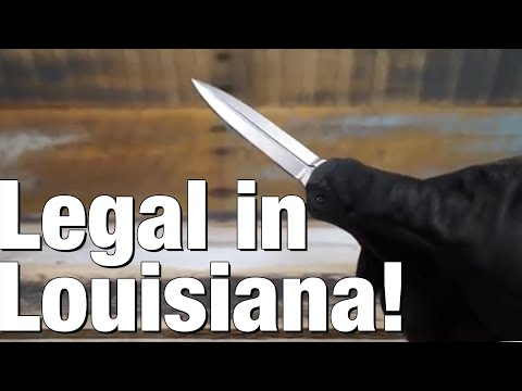 Switchblades / auto-knives now legal in Louisiana, but...