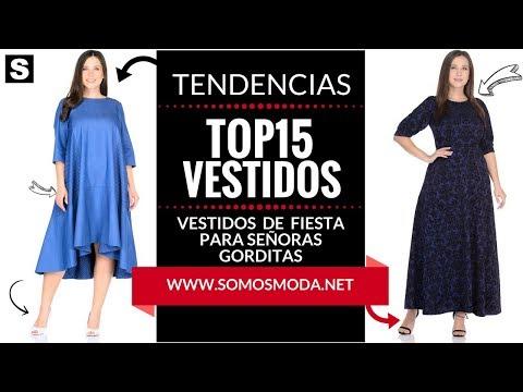 VESTIDOS DE FIESTA PARA SEÑORAS GORDITAS 👗 ¡Moda Para Mujeres Tallas XL!