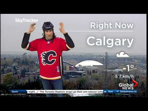 Calgary weatherman dresses up as Jaromir Jagr - mullet and all