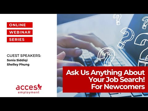 Ask Us Anything About Your Job Search! Newcomers