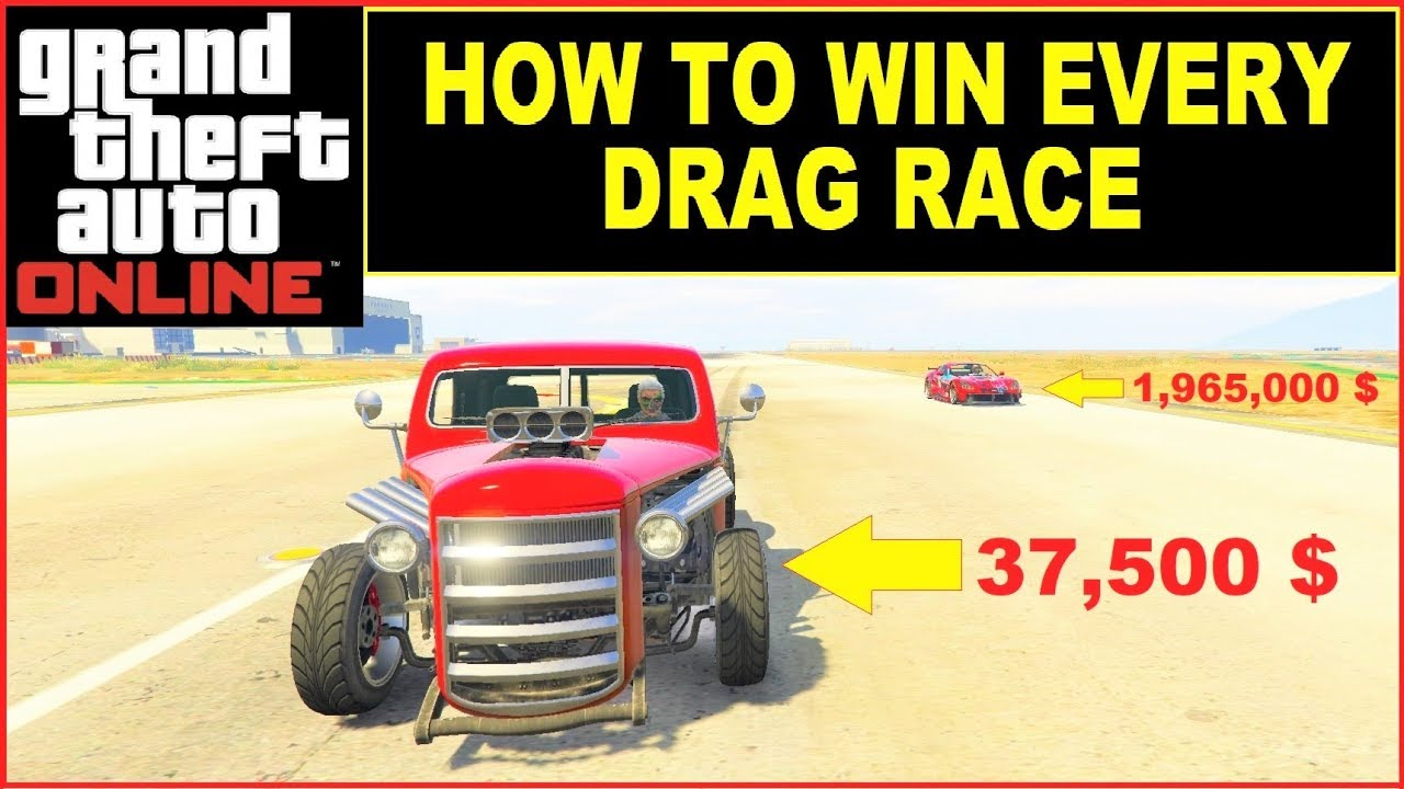 How to win every DRAG RACE in GTA 5 Online , fastest & best Drag Car , RAT  TRUCK VS ITALI