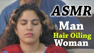 Man Oiling Woman ASMR Head Massage | Free Stock Footage for Youtube Videos