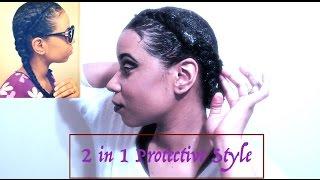 Peinado Protectivo Para El Pelo Rizo- 2 in 1 Protective Style