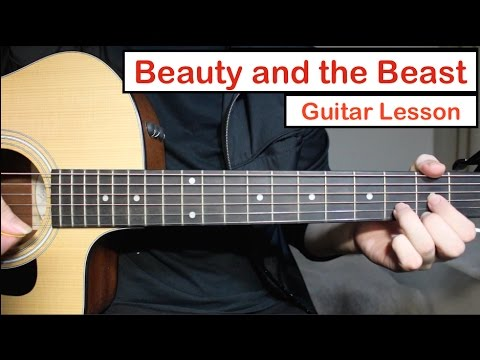 Beauty and the Beast - John Legend Ariana Grande | Guitar Lesson ...