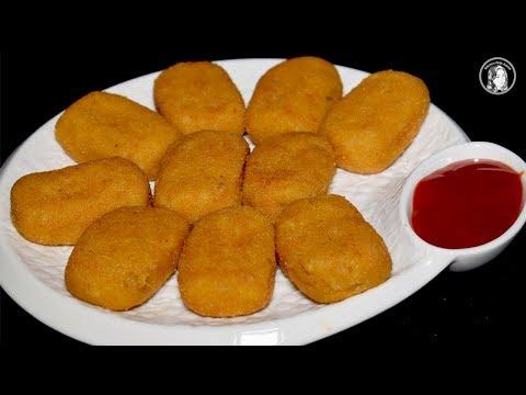 Potatoes Nuggets Recipe - Cheesy potato Nuggets - Easy Party Starter Recipe