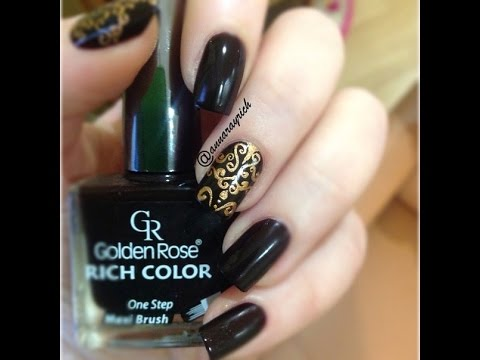 Damask Nail Art Design Youtube