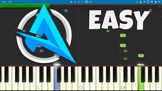 How to play Ali-A Intro Theme Song - EASY Piano Tutorial - Dirty Rush - BRASS