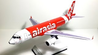 1:100 Paper Model/ Papercraft of the Air Asia's Airbus A320-200 (Making)