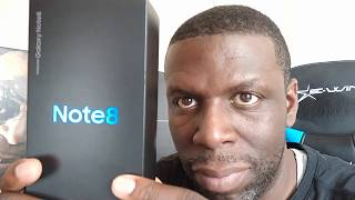 Samsung Galaxy Note 8 Retail Unit Unboxing Midnight Black