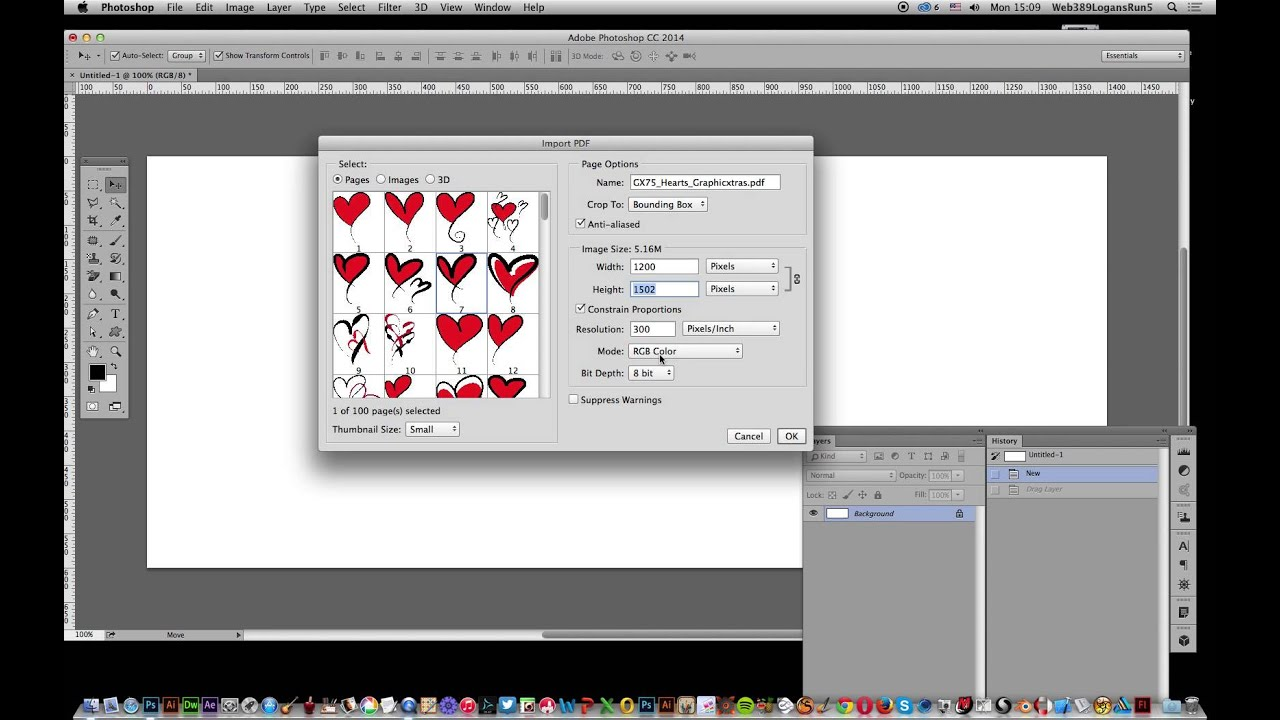 Opening and placing PDF documents in Photoshop tutorial - YouTube