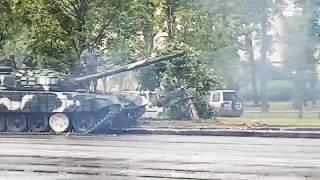 Танковый дрифт в Минске (Белоруссия 24.06.2017)