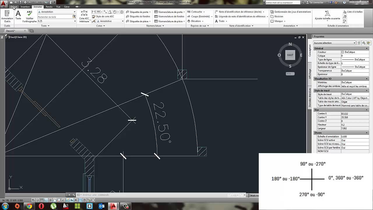 tuto dessiner un plan de maison avec autocad. Black Bedroom Furniture Sets. Home Design Ideas