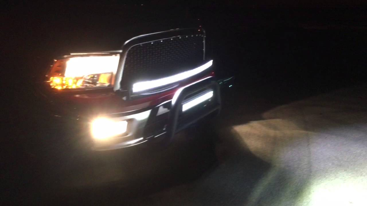 Ram 1500 Led Light Bars Youtube