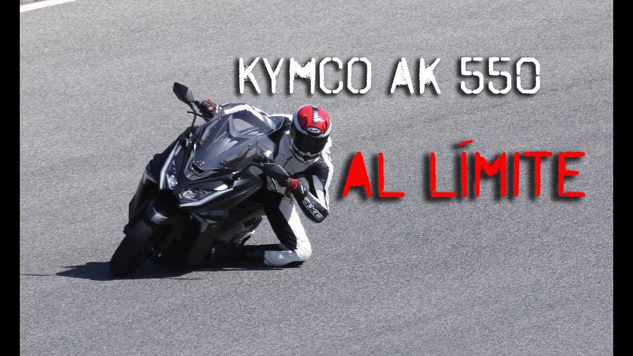 kymco ak 550: prueba en circuito al límite - youtube