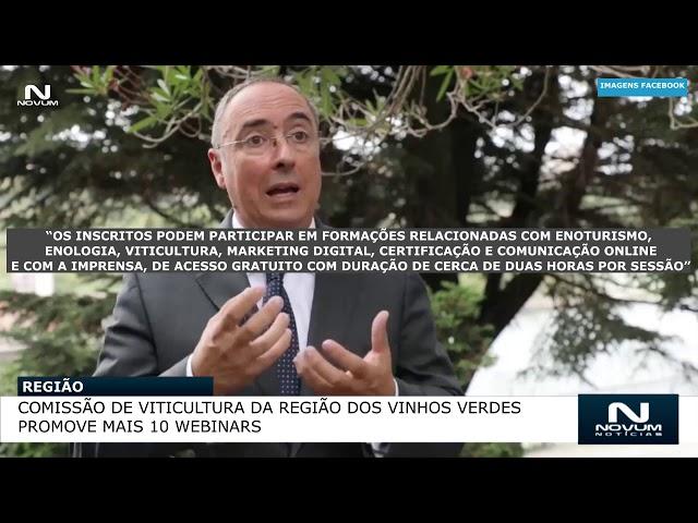 Comissão de Viticultura da Região dos Vinhos Verdes promove mais 10 webinars