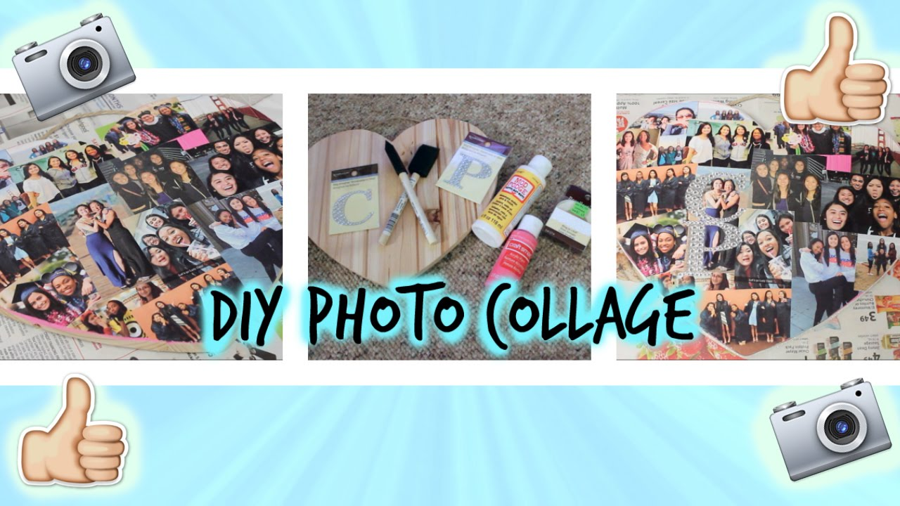 Diy Photo Collageperfect Gift For A Friend Youtube
