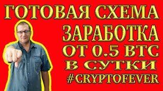 ГОТОВАЯ СХЕМА ЗАРАБОТКА ОТ 0.5 BTC В СУТКИ Зарабатывай на КриптоЛихорадке   #cryptofevercllub