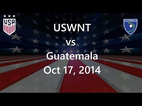 USWNT vs Guatemala Oct 17, 2014