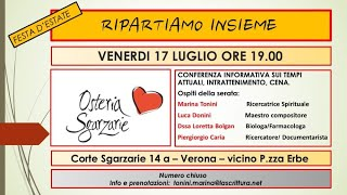 Conferenza sui temi attuali: #RIPARTIAMO INSIEME - P.G.Caria, M.Tonini, Dott. L. Bolgan - VERONA