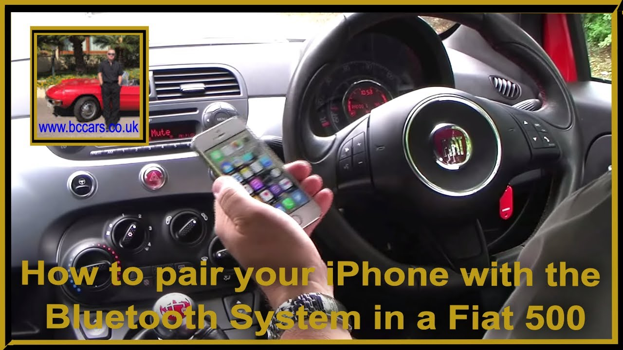 how to pair your iphone with the bluetooth system in a fiat 500 1 2 s 3dr start stop youtube. Black Bedroom Furniture Sets. Home Design Ideas