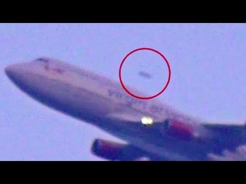 UFO Passes Virgin Atlantic Flight at JFK on Video