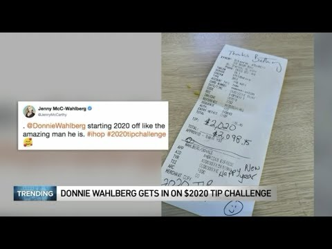 Lisa St. Regis - IHOP server receives $2,020 tip from Donnie Wahlberg #2020tipchallenge