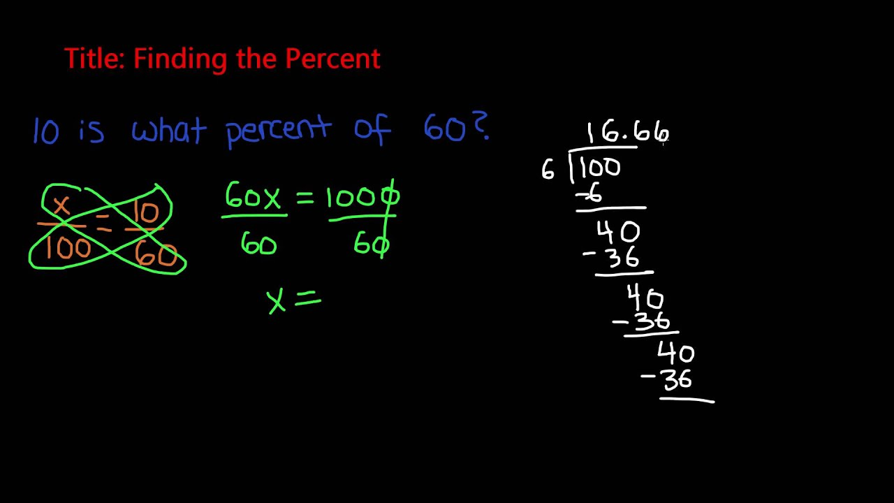 Percent Problems - Finding the Percent   7th Grade Math - YouTube [ 720 x 1280 Pixel ]