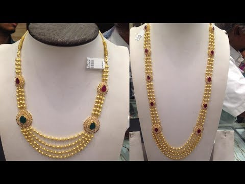Diwali Collection 2018 | KALYAN Jewellery   Latest One Gram Gold Long Haram Designs With Price