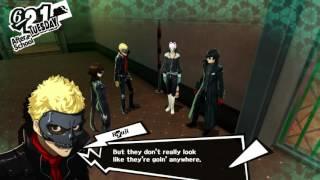 Persona 5 - 6-21 Kaneshiro's Palace: Locate Basement: Control Room: Tornado Devil Fight Right Key