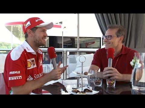 2016 Italian Grand Prix - Sebastian Vettel interview with Jacques Villeneuve
