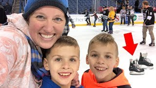 First Hockey Game and Ice Skating Fun!