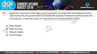 Monthly Current Affairs September 2018 Part 1 KVS PGT TGT