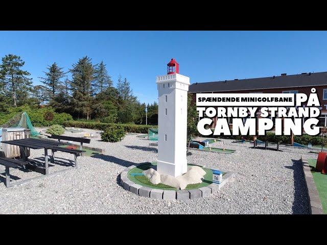 Spændende minigolfbane på Tornby Strand Camping