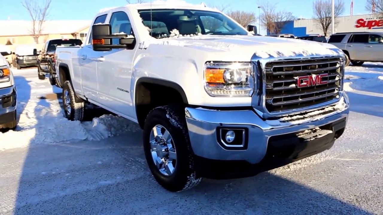 summit white 2017 gmc sierra 2500hd sle for sale in medicine hat ab youtube. Black Bedroom Furniture Sets. Home Design Ideas