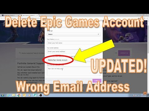 UPDATED: How to Delete your Epic Games Account [Wrong ...
