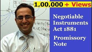 promissory note negotiable instruments act 1881    business law lectures for ca cs cma